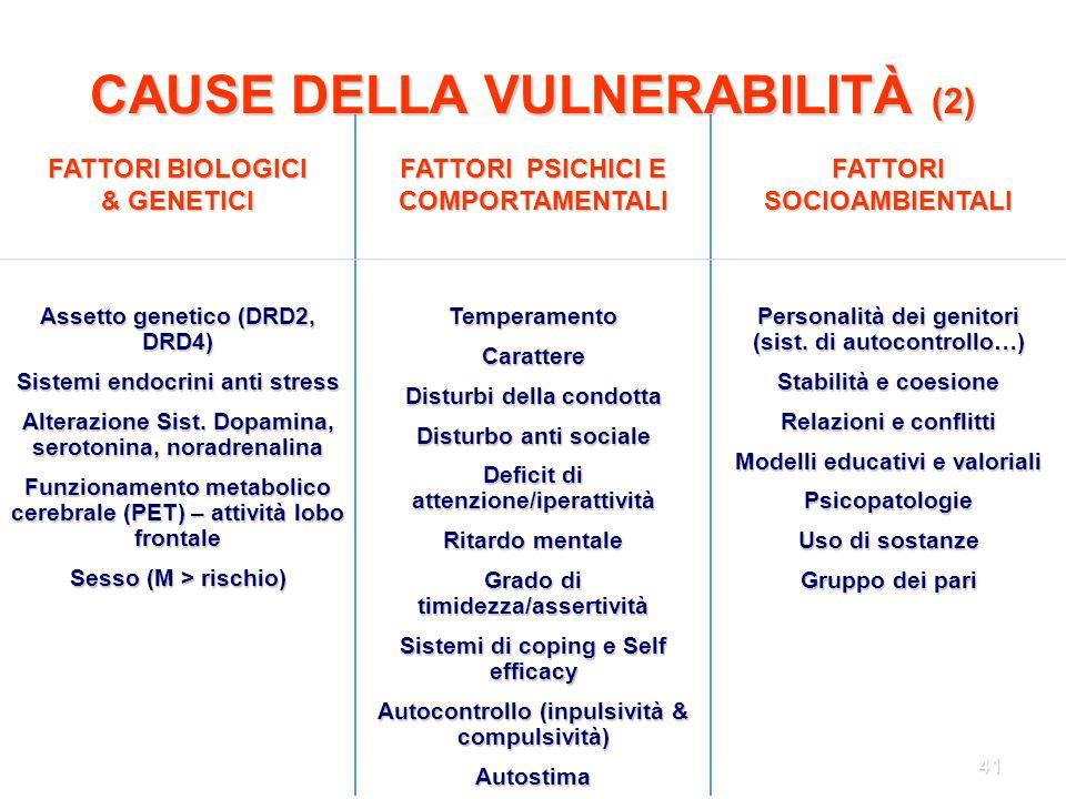 CAUSE DELLA VULNERABILITÀ (2)