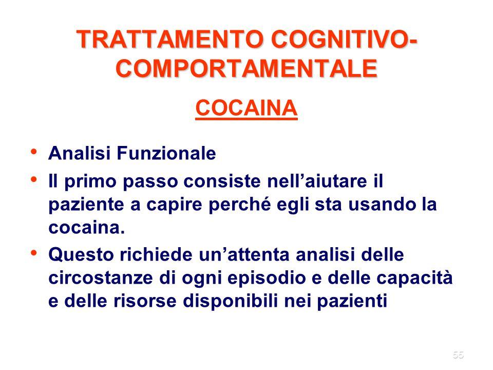 TRATTAMENTO COGNITIVO-COMPORTAMENTALE