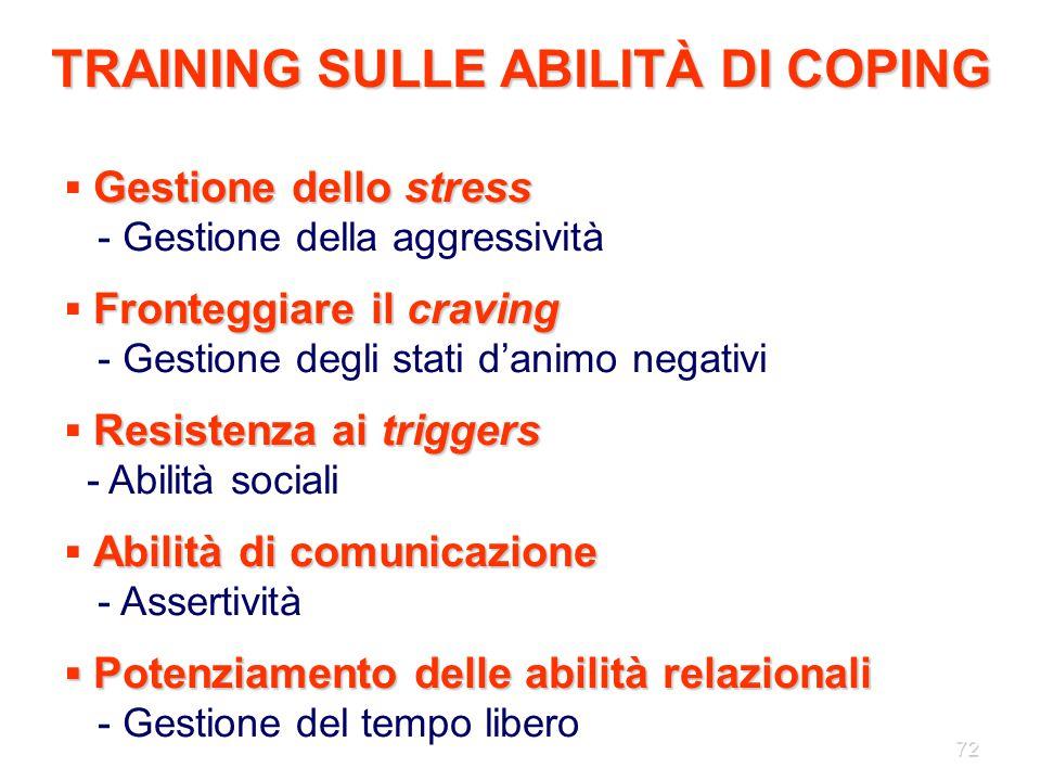 TRAINING SULLE ABILITÀ DI COPING
