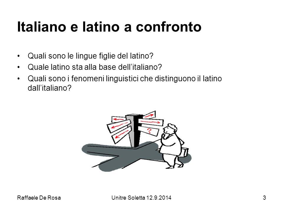 Italiano e latino a confronto