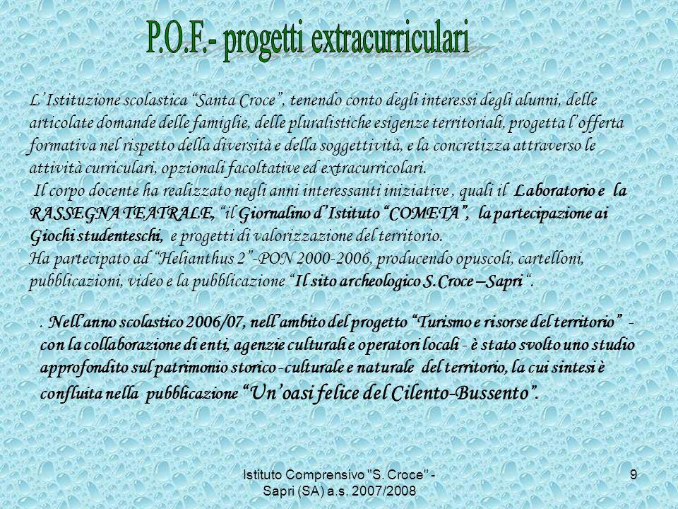 P.O.F.- progetti extracurriculari