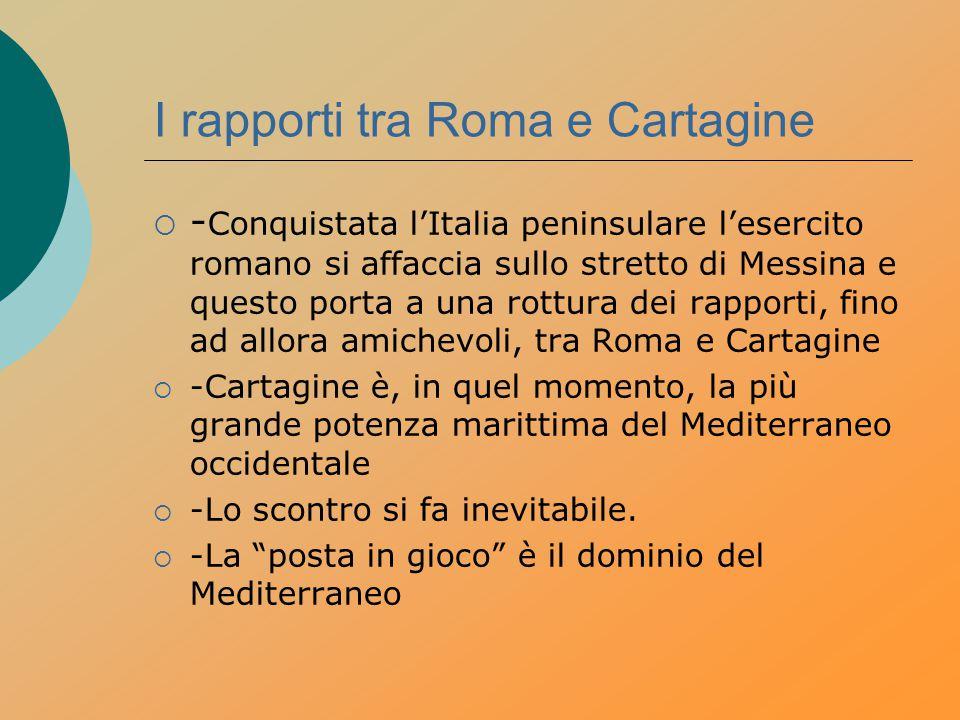 I rapporti tra Roma e Cartagine