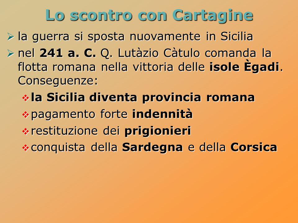 Lo scontro con Cartagine