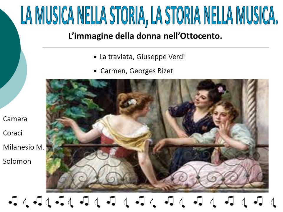 LA MUSICA NELLA STORIA, LA STORIA NELLA MUSICA.