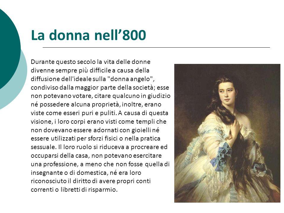 La donna nell'800