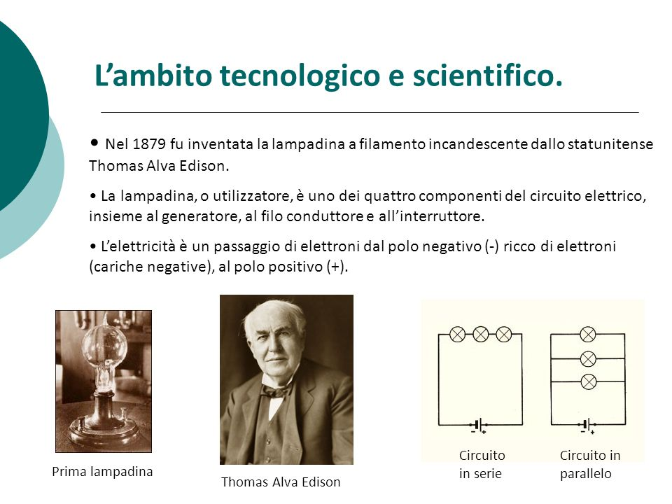 L'ambito tecnologico e scientifico.