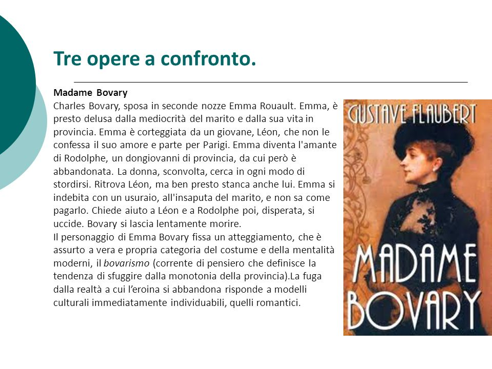 Tre opere a confronto. Madame Bovary