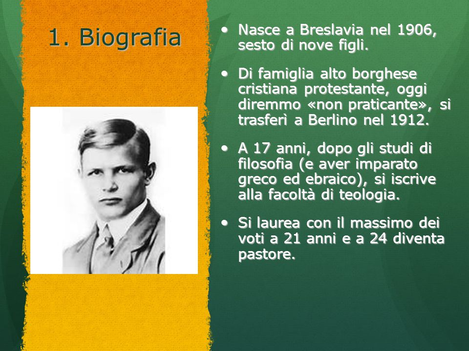 1. Biografia Nasce a Breslavia nel 1906, sesto di nove figli.