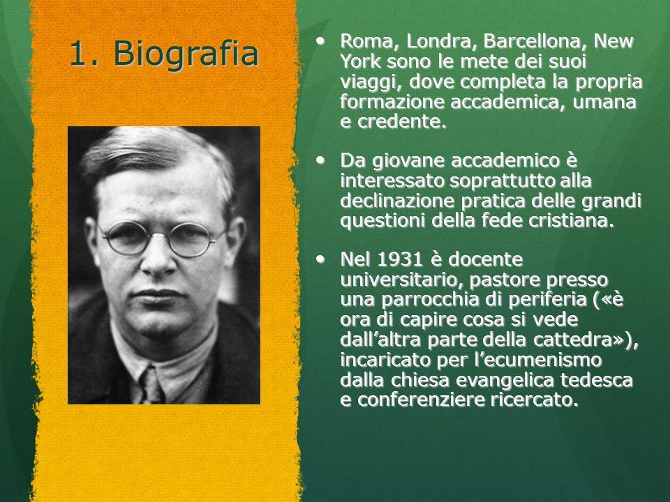1. Biografia Roma, Londra, Barcellona, New York sono le mete dei suoi viaggi, dove completa la propria formazione accademica, umana e credente.