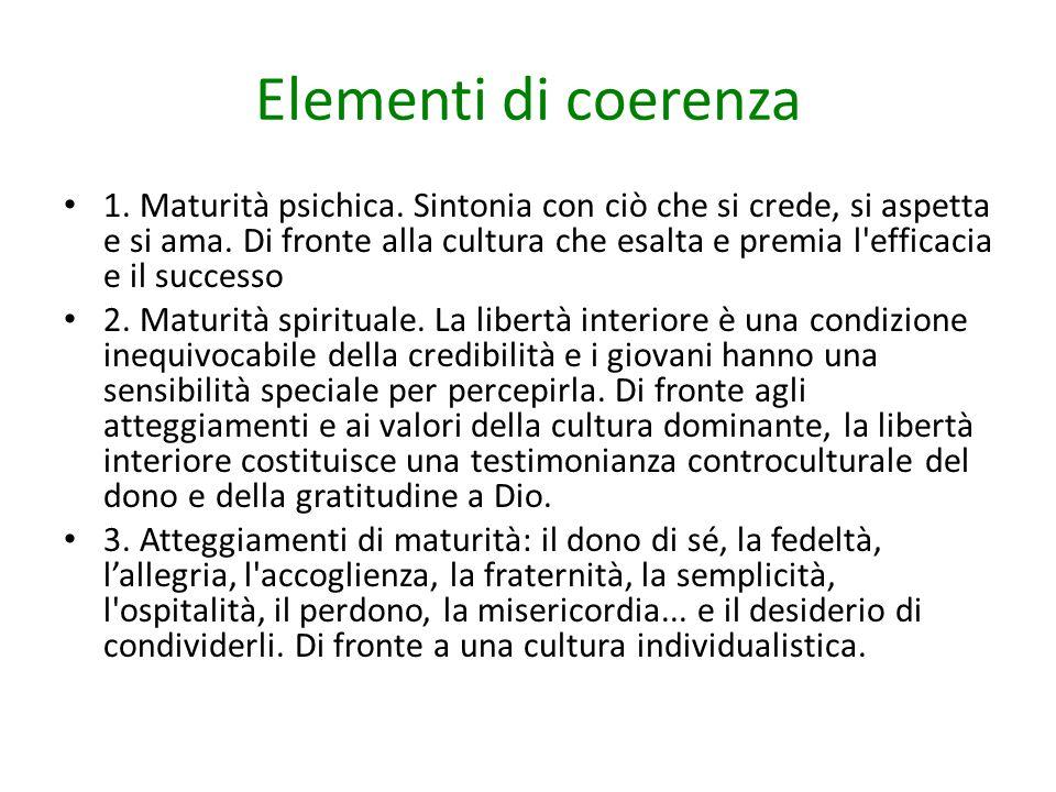 Elementi di coerenza