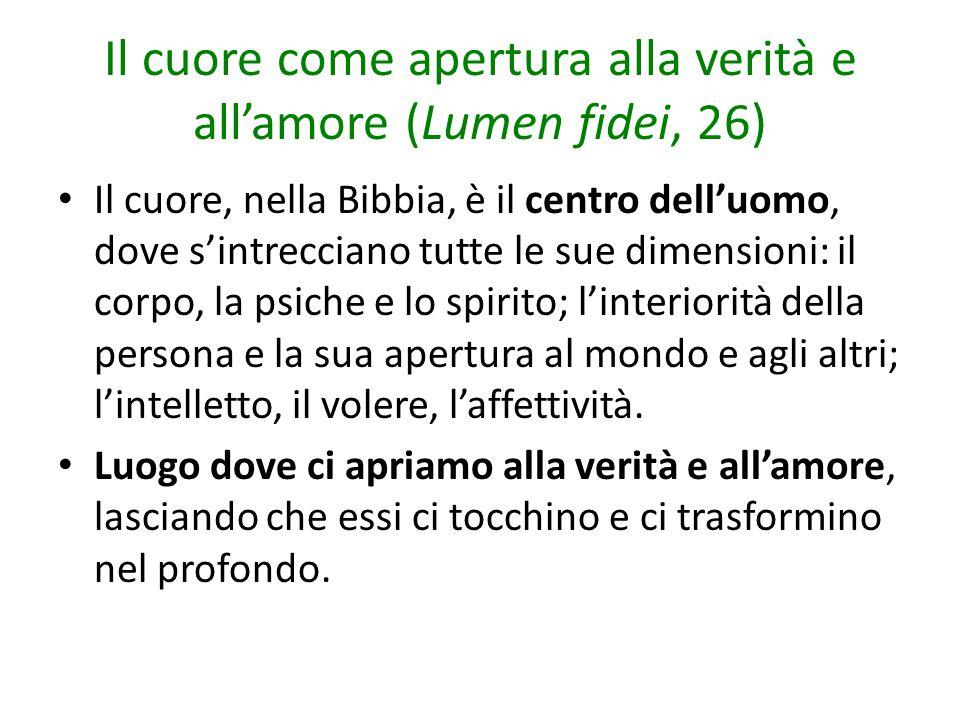 Il cuore come apertura alla verità e all'amore (Lumen fidei, 26)