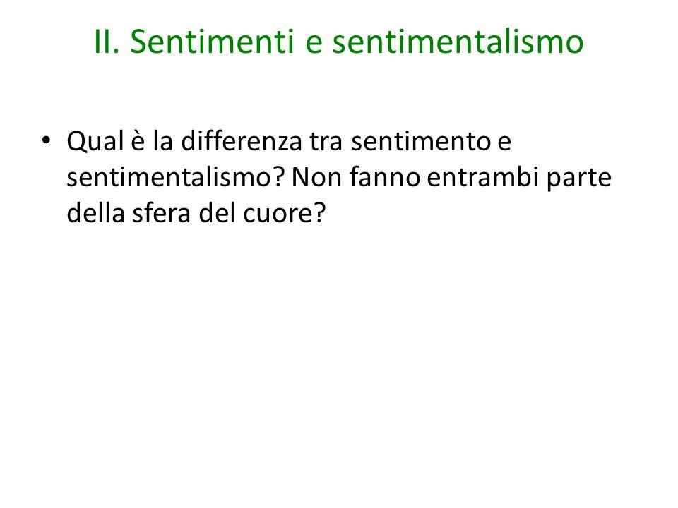 II. Sentimenti e sentimentalismo