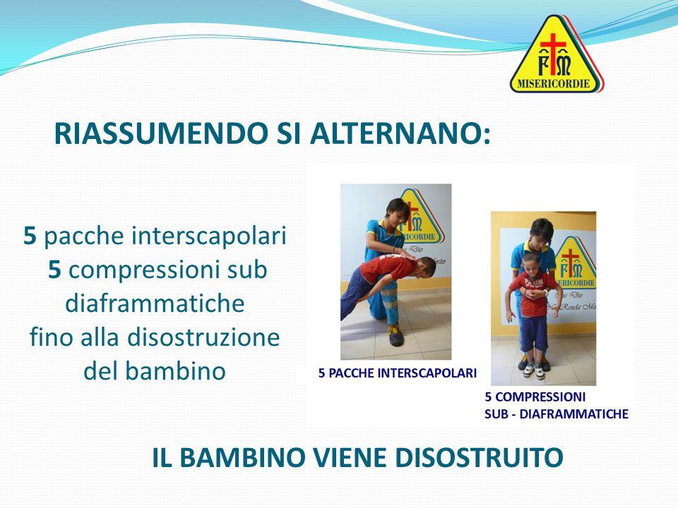 RIASSUMENDO SI ALTERNANO: IL BAMBINO VIENE DISOSTRUITO