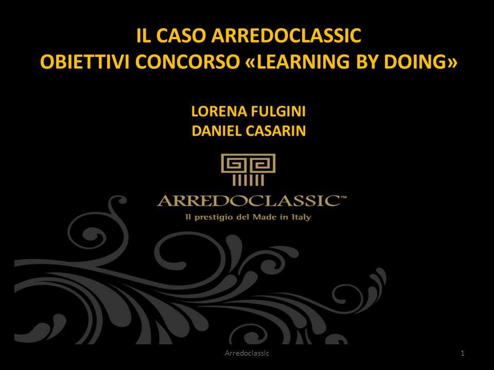 OBIETTIVI CONCORSO «LEARNING BY DOING»