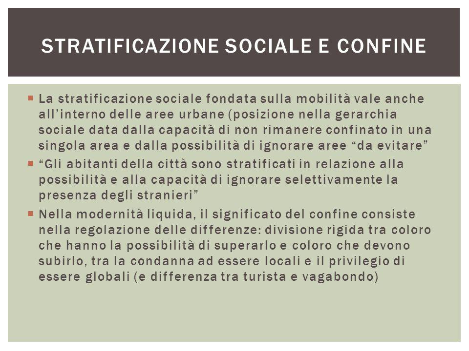 Stratificazione sociale e confine