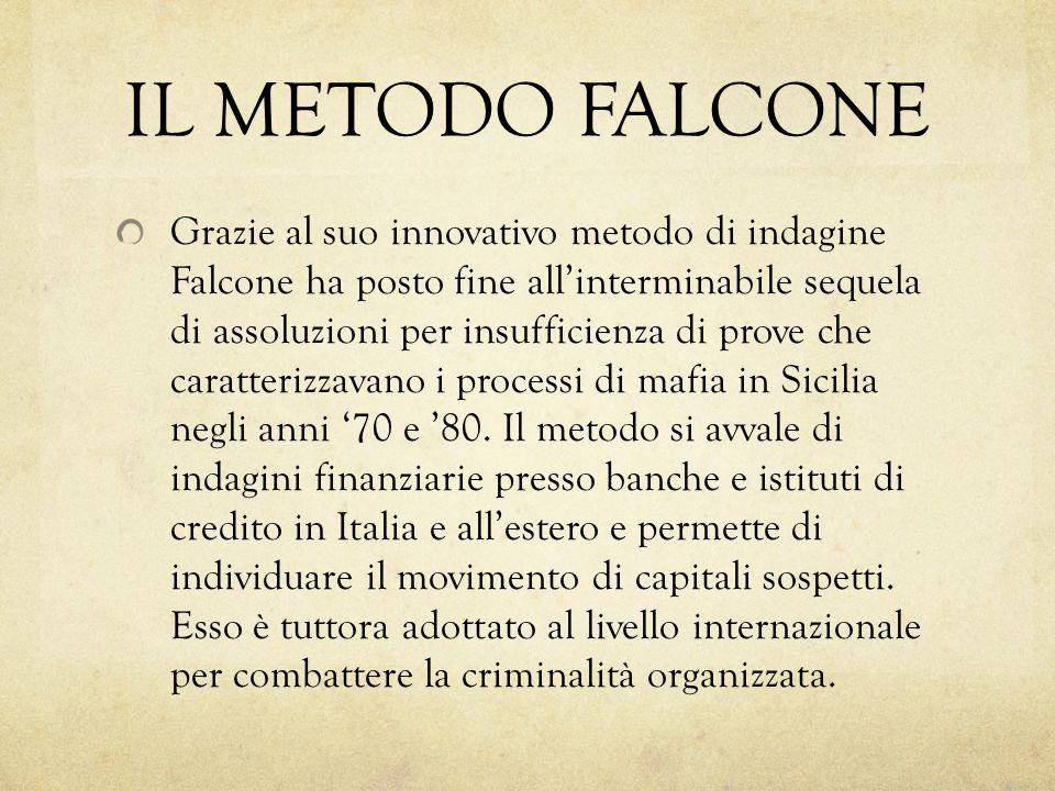IL METODO FALCONE