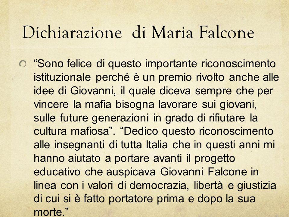 Dichiarazione di Maria Falcone
