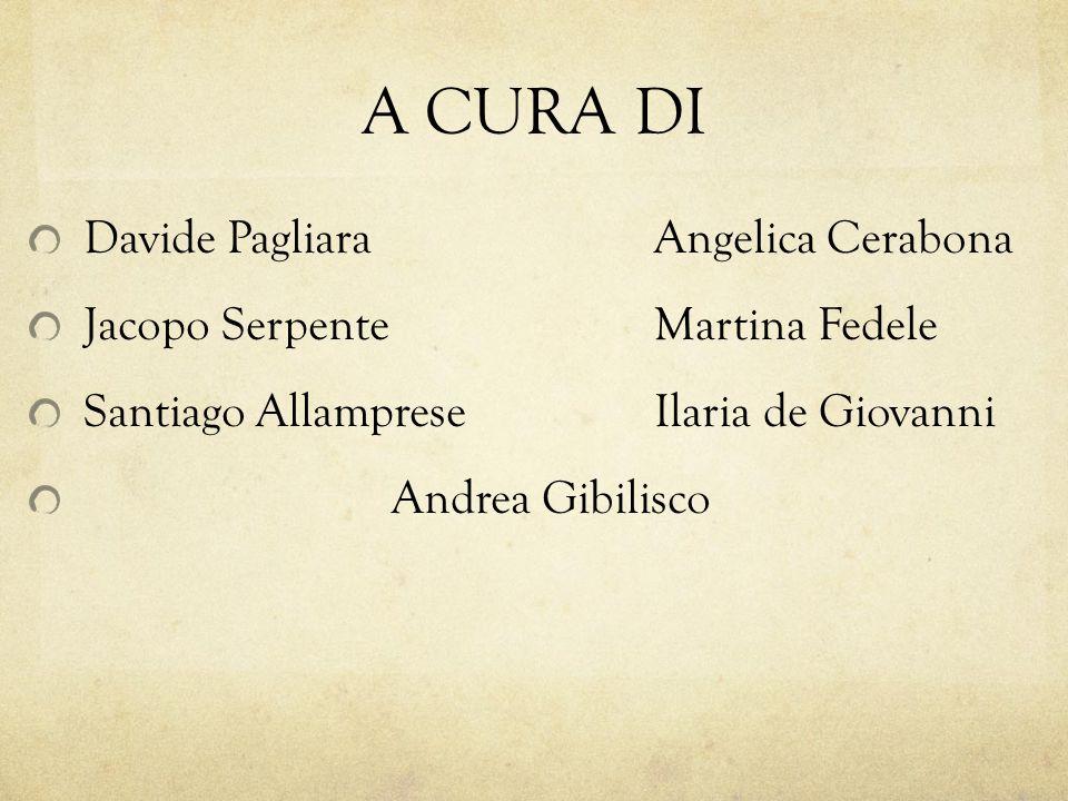 A CURA DI Davide Pagliara Jacopo Serpente Santiago Allamprese