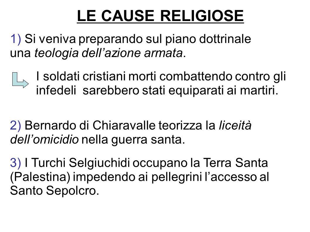LE CAUSE RELIGIOSE 1) Si veniva preparando sul piano dottrinale una teologia dell'azione armata.