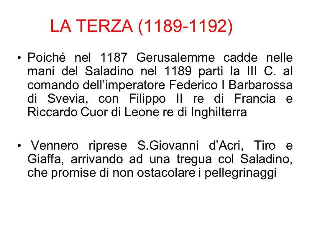 LA TERZA (1189-1192)