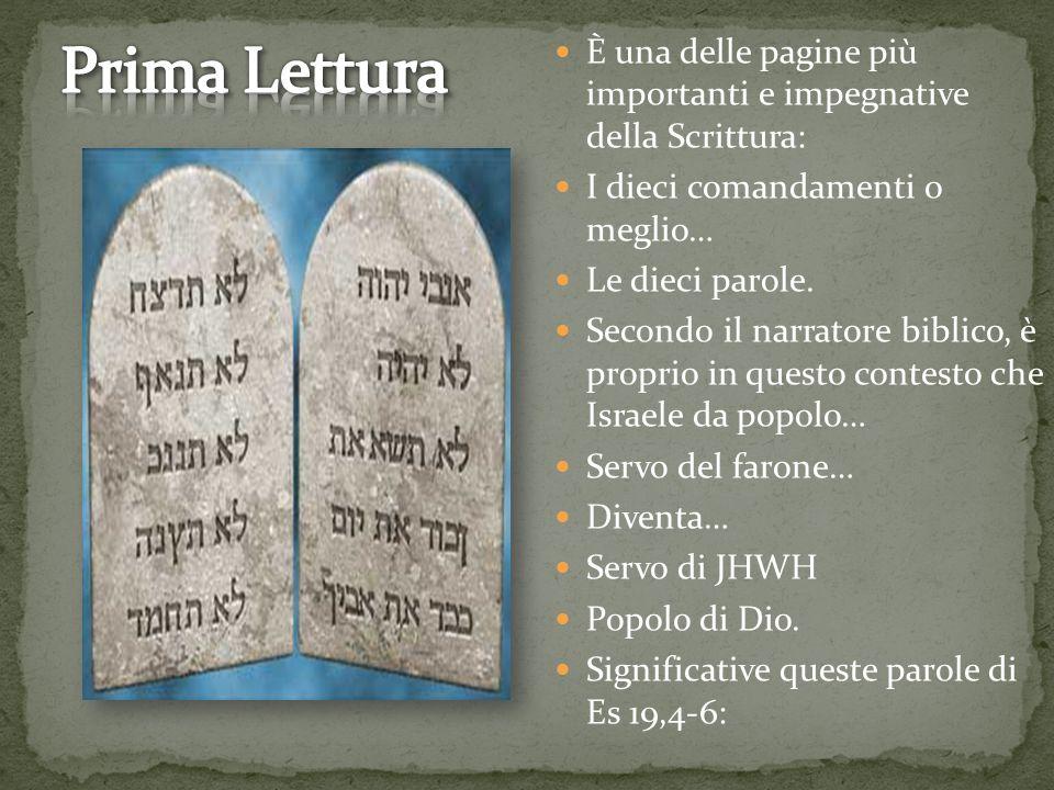 È una delle pagine più importanti e impegnative della Scrittura: