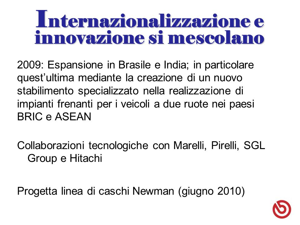 Internazionalizzazione e innovazione si mescolano