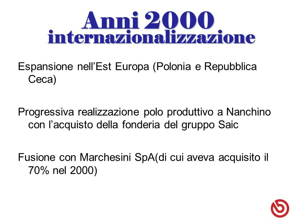 Anni 2000 internazionalizzazione