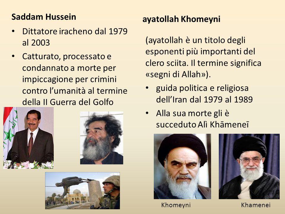 Dittatore iracheno dal 1979 al 2003