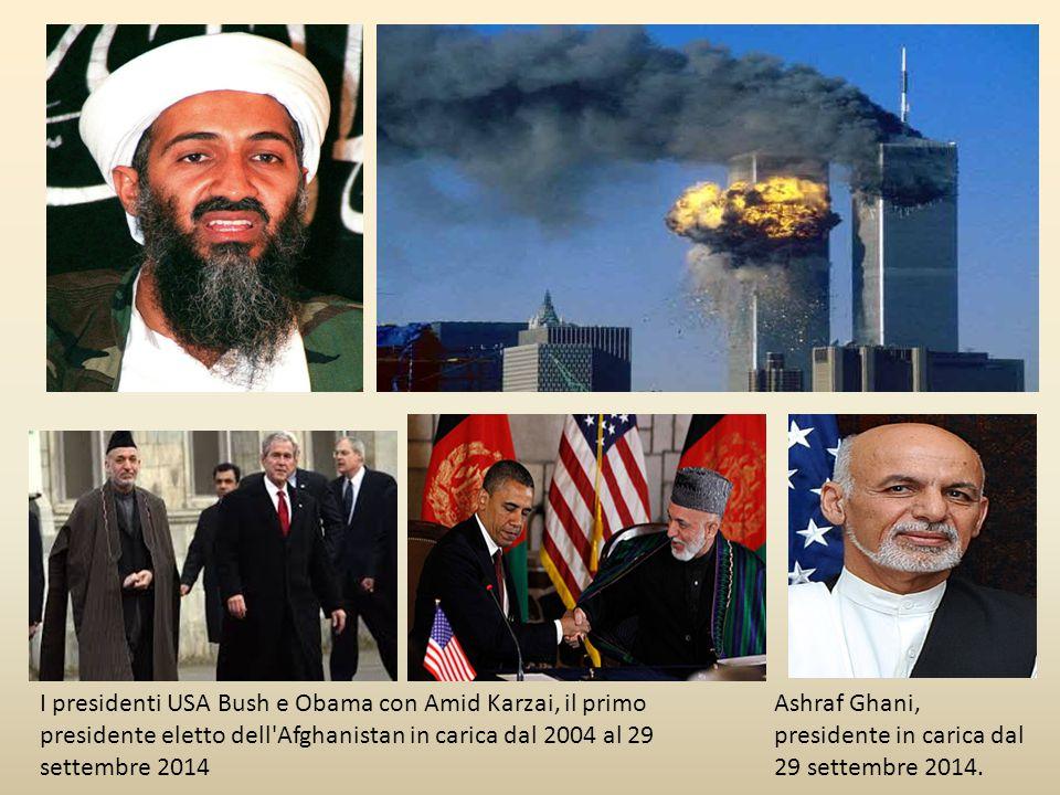 I presidenti USA Bush e Obama con Amid Karzai, il primo presidente eletto dell Afghanistan in carica dal 2004 al 29 settembre 2014