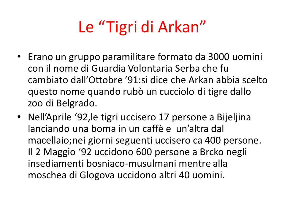 Le Tigri di Arkan