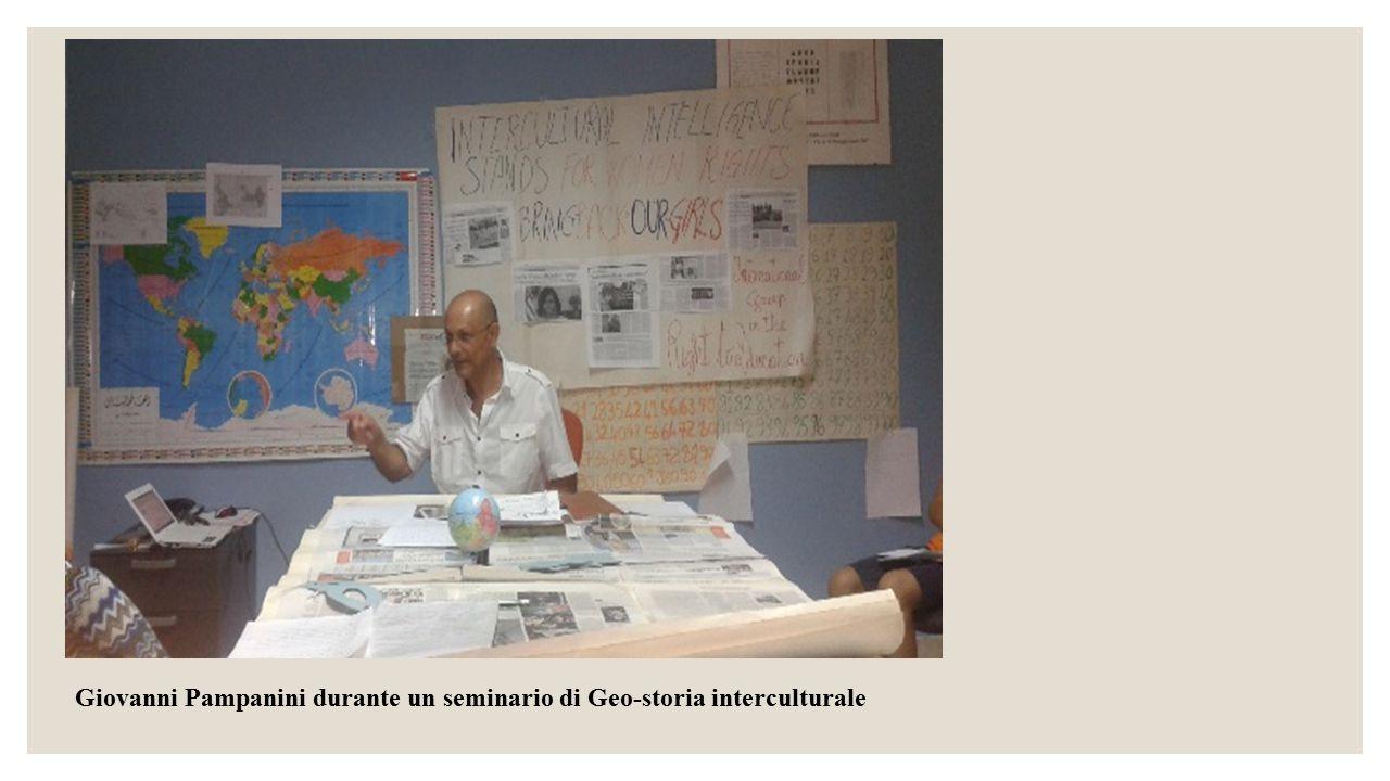 Giovanni Pampanini durante un seminario di Geo-storia interculturale