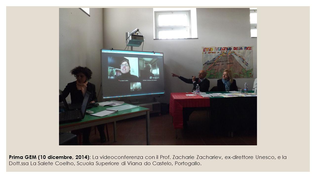 Prima GEM (10 dicembre, 2014): La videoconferenza con il Prof