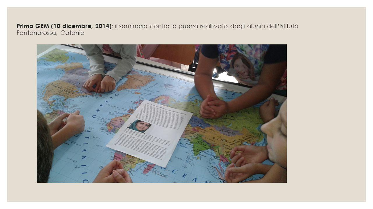 Prima GEM (10 dicembre, 2014): il seminario contro la guerra realizzato dagli alunni dell'Istituto Fontanarossa, Catania