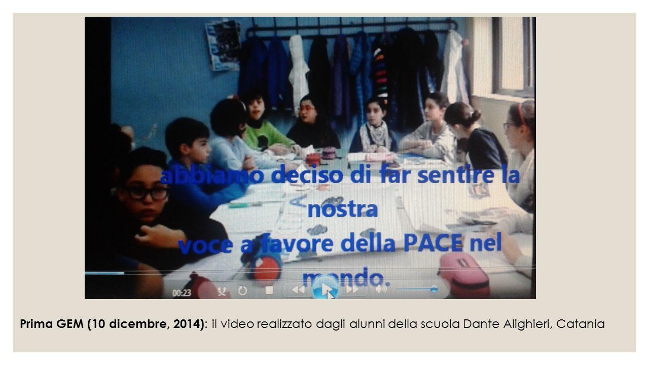 Prima GEM (10 dicembre, 2014): il video realizzato dagli alunni della scuola Dante Alighieri, Catania