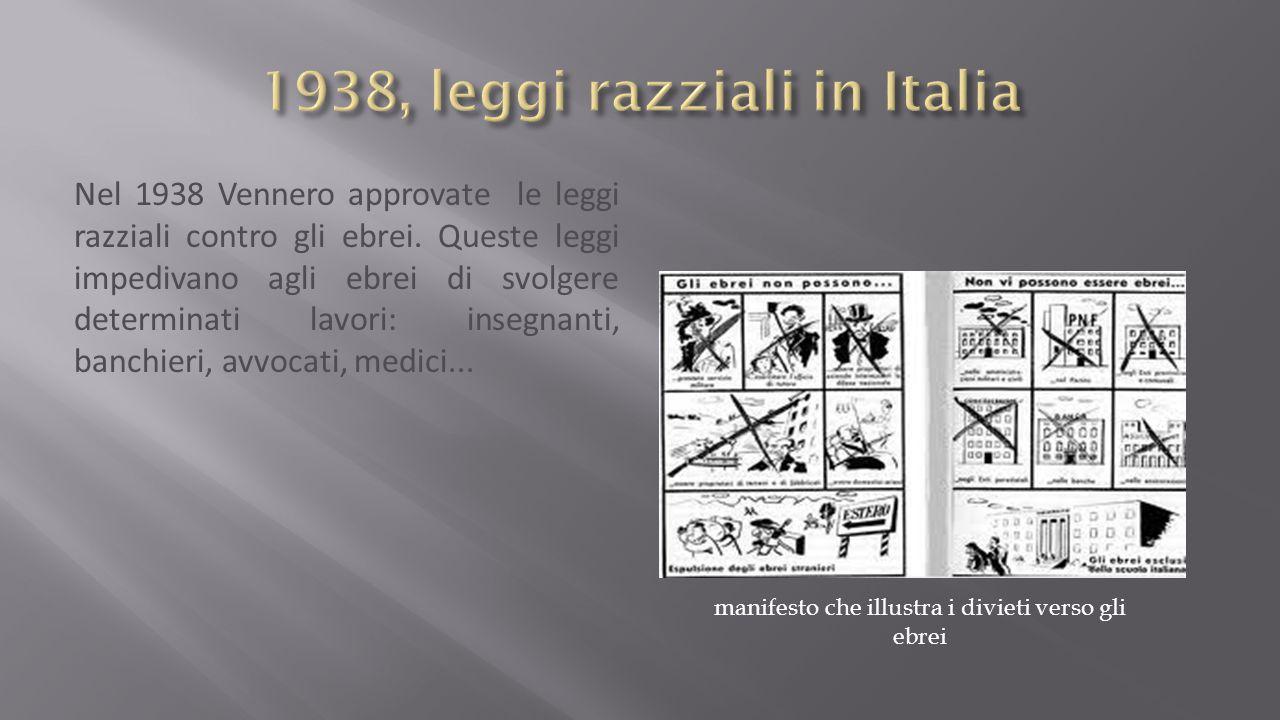 1938, leggi razziali in Italia