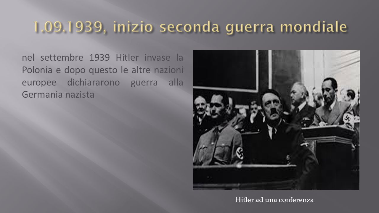 1.09.1939, inizio seconda guerra mondiale