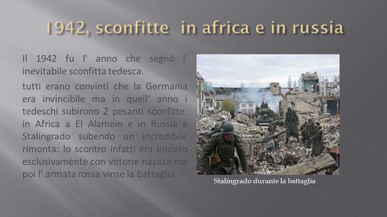 1942, sconfitte in africa e in russia