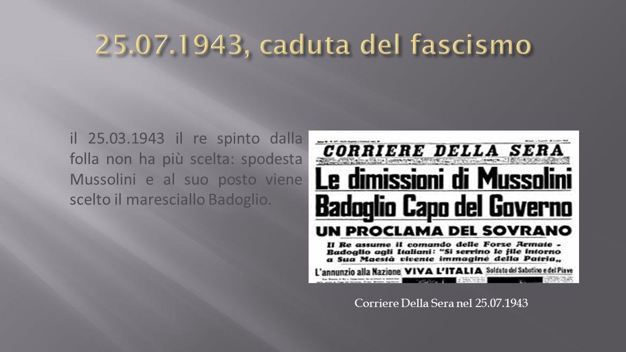 Corriere Della Sera nel 25.07.1943
