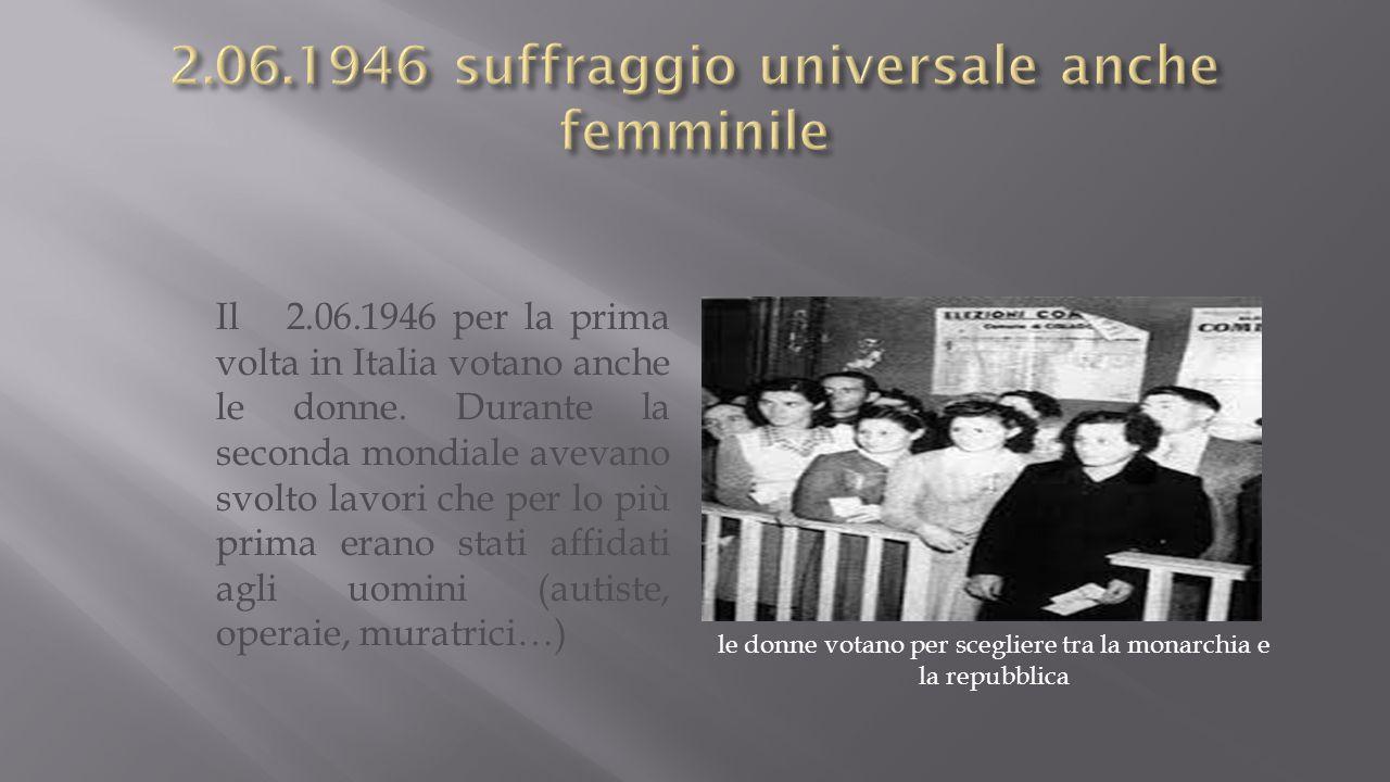 2.06.1946 suffraggio universale anche femminile