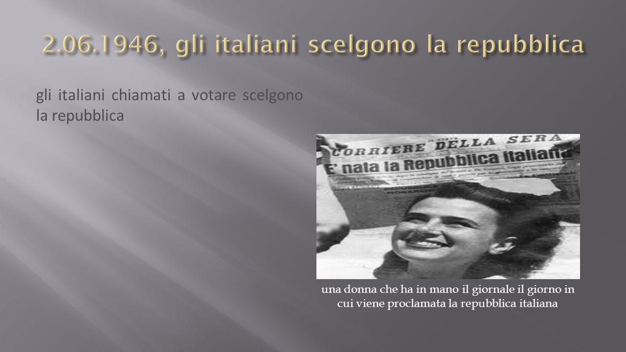 2.06.1946, gli italiani scelgono la repubblica