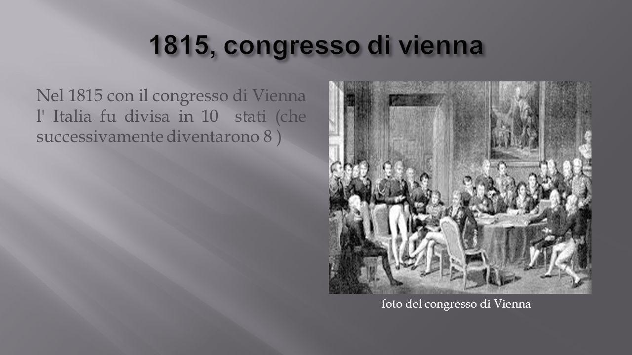 foto del congresso di Vienna