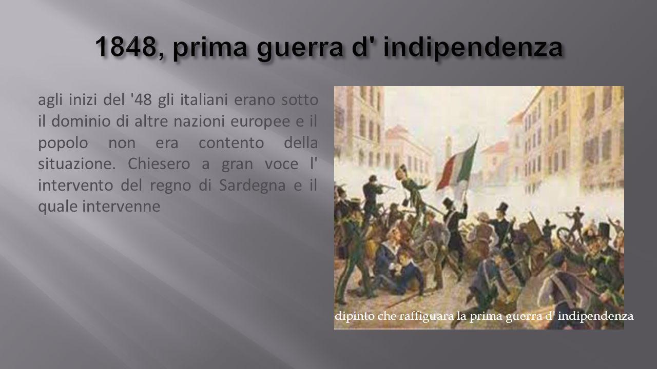 1848, prima guerra d indipendenza