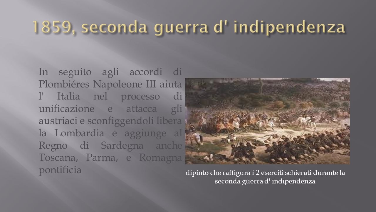 1859, seconda guerra d indipendenza