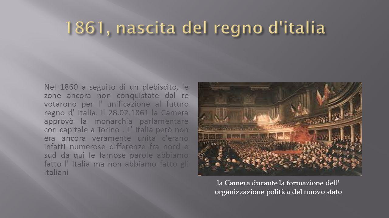 1861, nascita del regno d italia