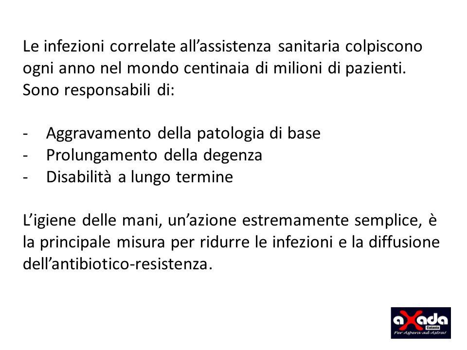 Aggravamento della patologia di base Prolungamento della degenza