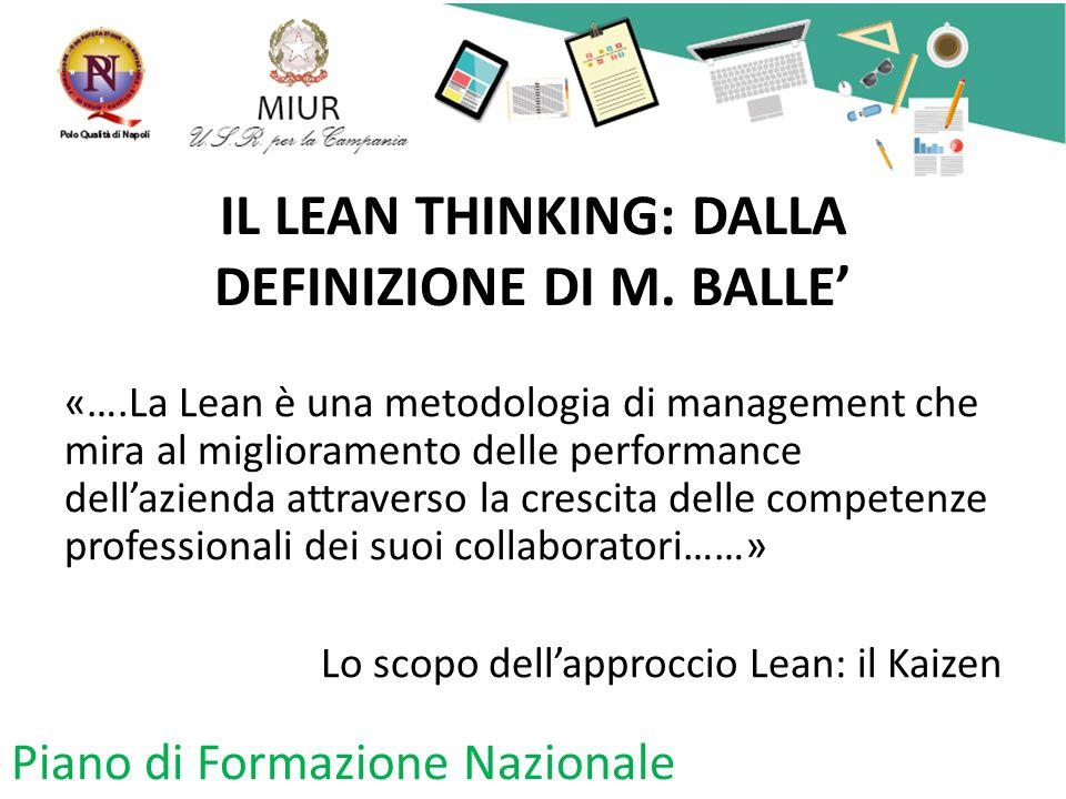 IL LEAN THINKING: DALLA DEFINIZIONE DI M. BALLE'