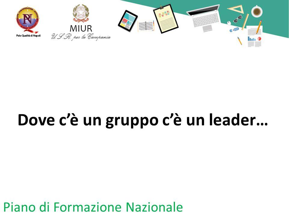 Dove c'è un gruppo c'è un leader…