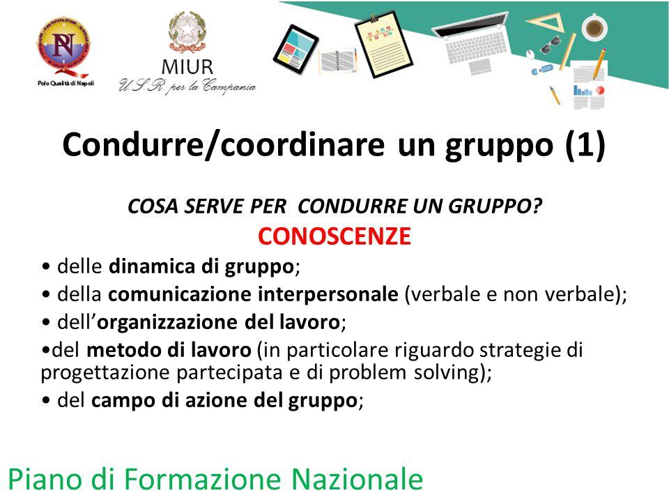 Condurre/coordinare un gruppo (1)