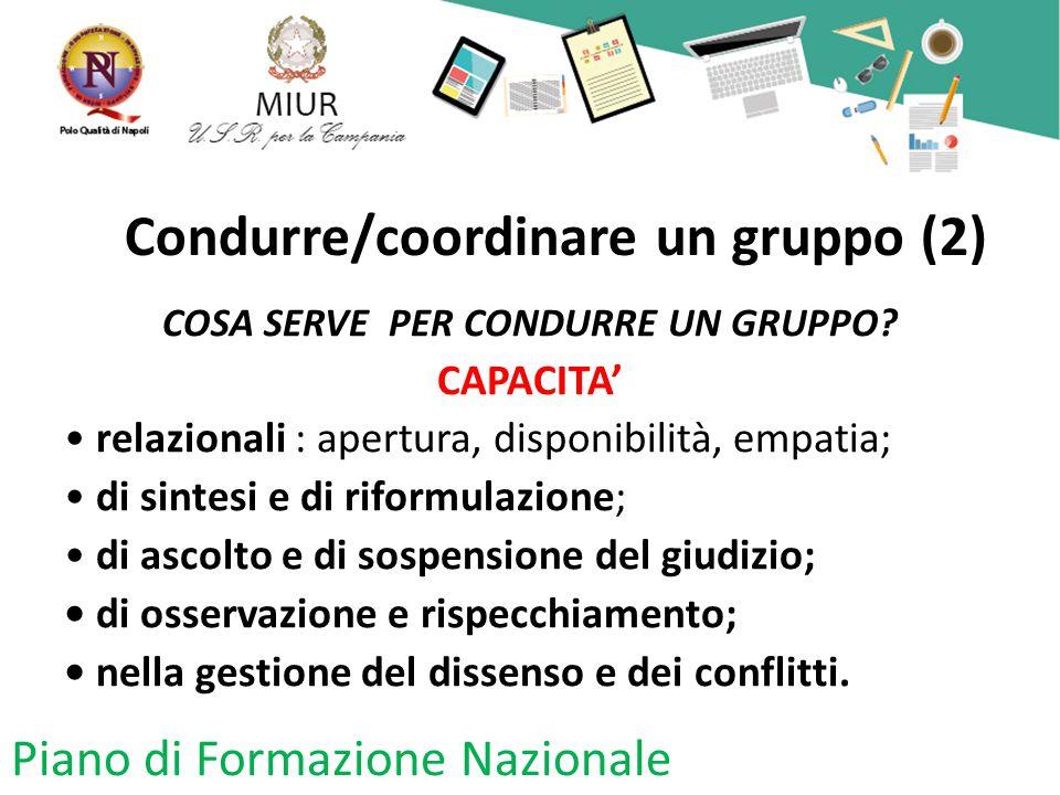 Condurre/coordinare un gruppo (2)
