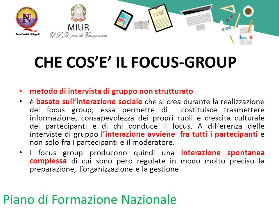 CHE COS'E' IL FOCUS-GROUP